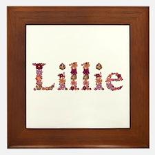 Lillie Pink Flowers Framed Tile