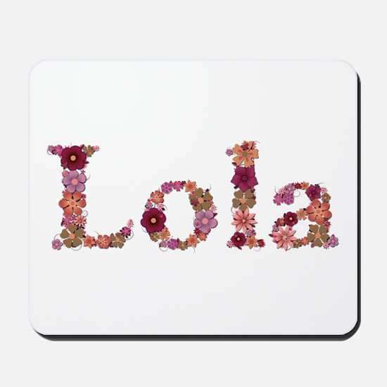 Lola Pink Flowers Mousepad