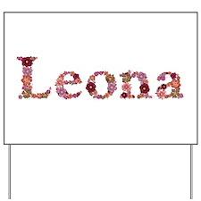 Leona Pink Flowers Yard Sign