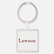 Lawson Pink Flowers Square Keychain