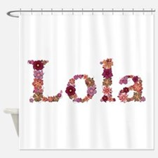 Lola Pink Flowers Shower Curtain