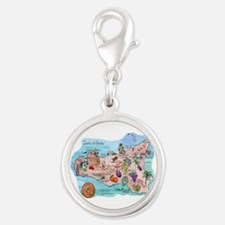 Map Of Sicily Charms
