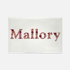 Mallory Pink Flowers Rectangle Magnet