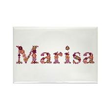 Marisa Pink Flowers Rectangle Magnet