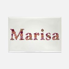 Marisa Pink Flowers Rectangle Magnet