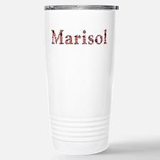 Marisol Pink Flowers Stainless Steel Travel Mug