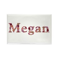 Megan Pink Flowers Rectangle Magnet