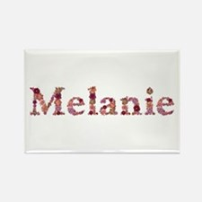 Melanie Pink Flowers Rectangle Magnet