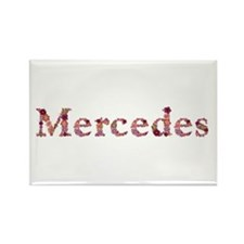 Mercedes Pink Flowers Rectangle Magnet