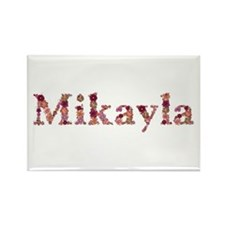Mikayla Pink Flowers Rectangle Magnet