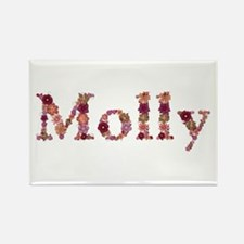 Molly Pink Flowers Rectangle Magnet