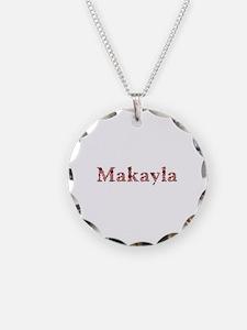 Makayla Pink Flowers Necklace