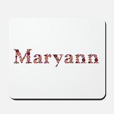 Maryann Pink Flowers Mousepad