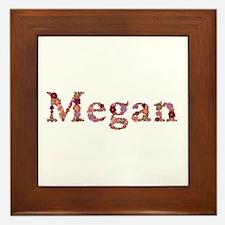 Megan Pink Flowers Framed Tile