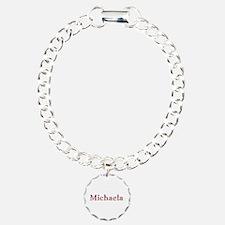 Michaela Pink Flowers Bracelet