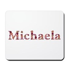 Michaela Pink Flowers Mousepad