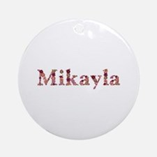 Mikayla Pink Flowers Round Ornament