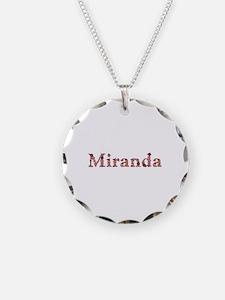 Miranda Pink Flowers Necklace