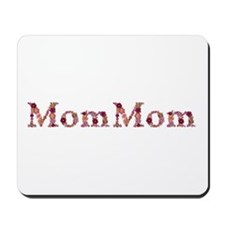 Mommom Pink Flowers Mousepad