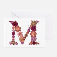 M Pink Flowers Greeting Card