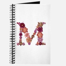 M Pink Flowers Journal
