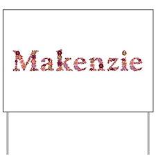 Makenzie Pink Flowers Yard Sign