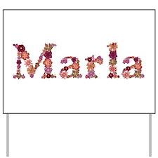 Marla Pink Flowers Yard Sign