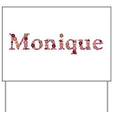Monique Pink Flowers Yard Sign