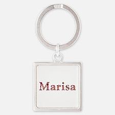 Marisa Pink Flowers Square Keychain