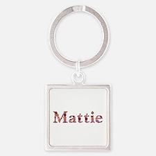 Mattie Pink Flowers Square Keychain
