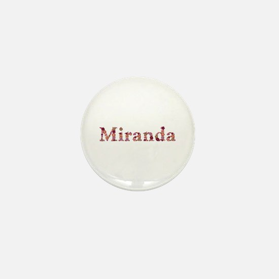 Miranda Pink Flowers Mini Button