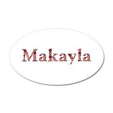 Makayla Pink Flowers 35x21 Oval Wall Decal