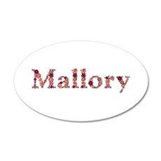 Mallory Pink Flowers 35x21 Oval Wall Decal