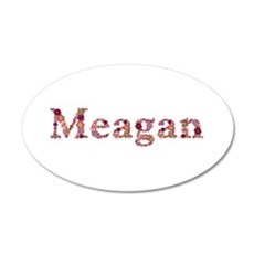Meagan Pink Flowers Wall Decal