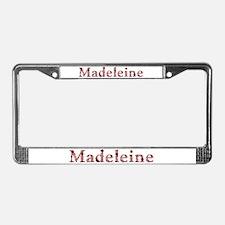 Madeleine Pink Flowers License Plate Frame