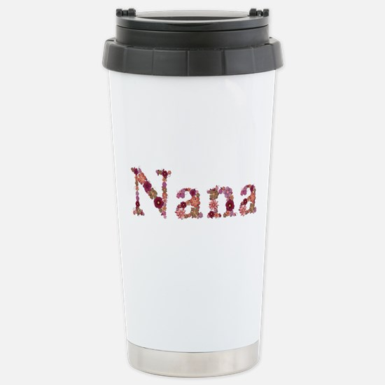 Nana Pink Flowers Stainless Steel Travel Mug