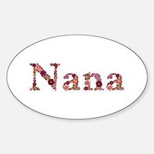 Nana Pink Flowers Oval Decal