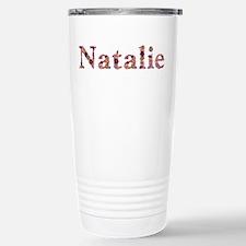 Natalie Pink Flowers Travel Mug