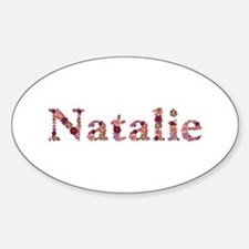 Natalie Pink Flowers Oval Decal
