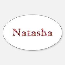 Natasha Pink Flowers Oval Decal