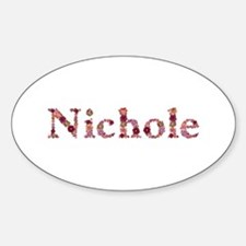 Nichole Pink Flowers Oval Decal
