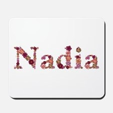 Nadia Pink Flowers Mousepad