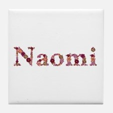 Naomi Pink Flowers Tile Coaster