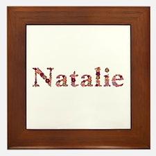 Natalie Pink Flowers Framed Tile