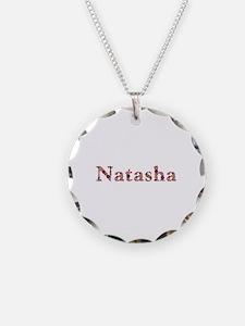 Natasha Pink Flowers Necklace
