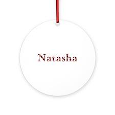 Natasha Pink Flowers Round Ornament