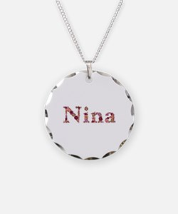 Nina Pink Flowers Necklace