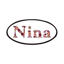 Nina Pink Flowers Patch