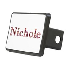 Nichole Pink Flowers Hitch Cover