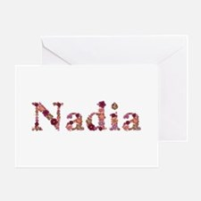 Nadia Pink Flowers Greeting Card
